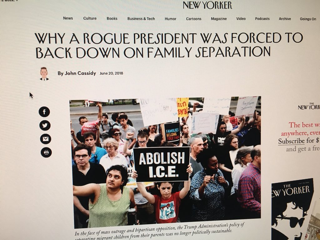 Abolish ICE poster used as to illustrate an article in The New Yorker